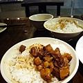 (18M)喫飯食堂菜色-豬油飯+滷肉飯