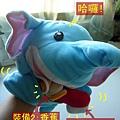 (19M)刷牙大象特寫照過來
