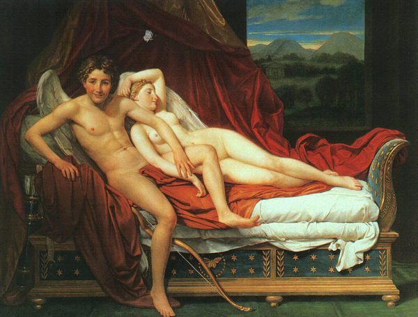 Cupid and Psyche, by Jacques-Louis David, 1748-1825 (1817)