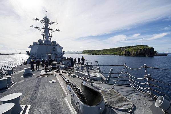 USS_Preble_exits_Apra_Harbor,_Guam._(9192806322).jpg
