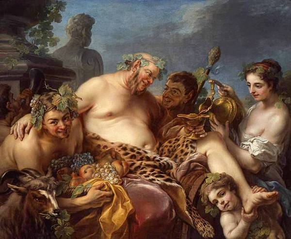 L'Ivresse de Silène, 1747, Charles André van Loo, Musée des Beaux-Arts de Nancy
