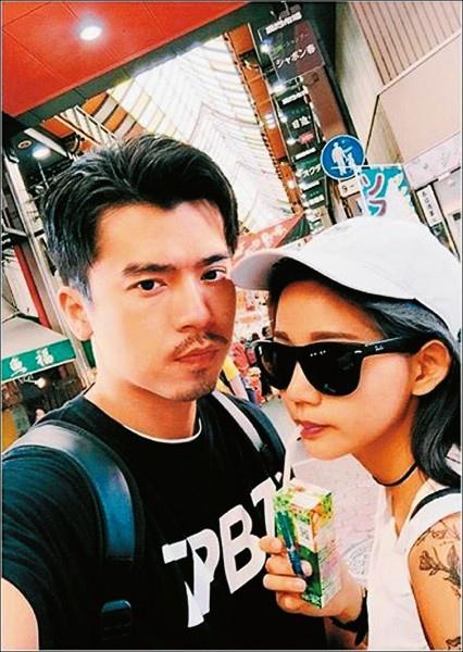 陳艾琳(右)與老公阿翔(左)現正努力修補感情