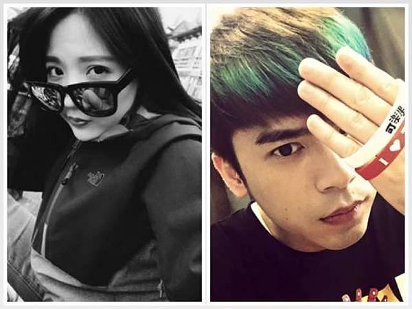 陳艾琳(左)在臉書嗆辣發文,得到緋聞男友魔幻力量阿翔支持