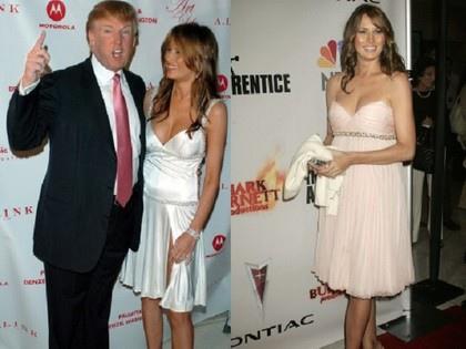 瑪蓮妮亞(右、左圖右)其實最愛爆乳、低胸和開高衩洋裝,自從川普參選後才改走高雅端莊路線.jpg