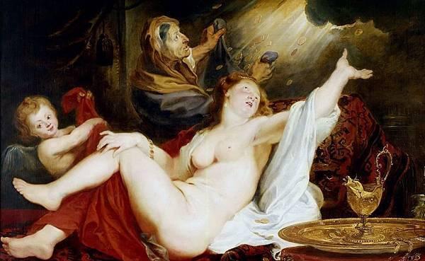Peter Paul Rubens Danae (局部)