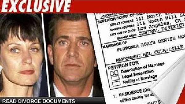 梅爾吉勃遜和老婆的離婚手續,正在洛杉磯最高法院趕辦中