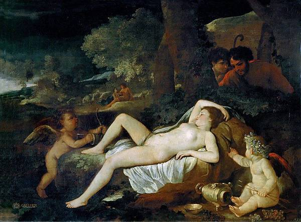 Nicolas Poussin - Sleeping Venus and the Shepherds