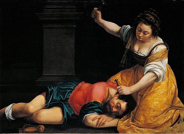 Artemisia Gentileschi. Jael and Sisera. 1620