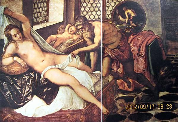 丁特列托-維納斯、火與戰神 Venus, Vulcan and Mars