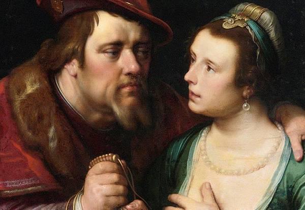 The Unequal Lovers-Cornelis van Haarlem - 1619