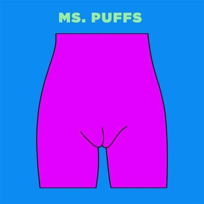 Ms. Puffs雖然大陰唇可以完整包住小陰唇,但因為唇形較突出、較明顯,所以像貝殼形狀