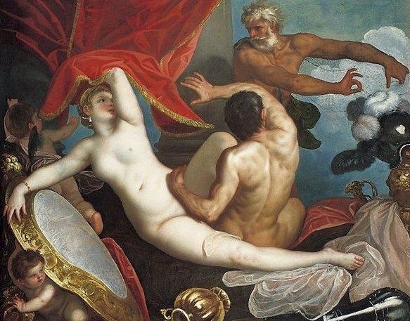 Padovanino. Venus and Mars Surprised by Vulcan. 1631