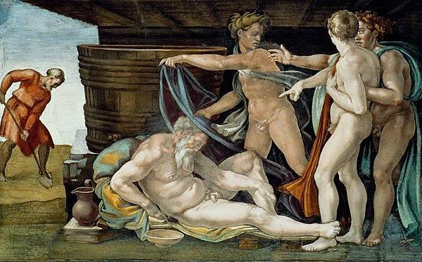 Michelangelo Buonarroti:Drunkenness of Noah