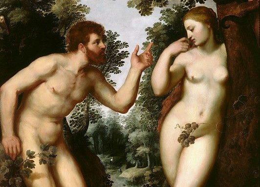 Peter Paul Rubens:Adam and Eve - 1597 - 複製