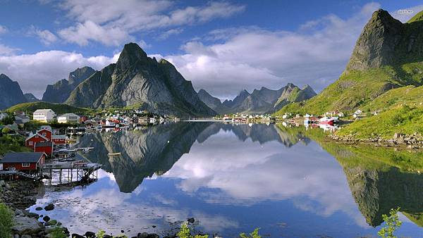 Sognefjord-Norway-Village