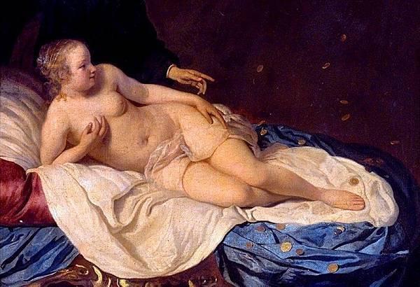 A Young Girl Seated Embracing Fruit Jacob Van Loo (1645)
