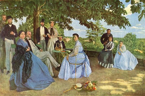 《家庭聚會》(Family Reunion),1867 - 1868,油畫,收藏於奧賽博物館