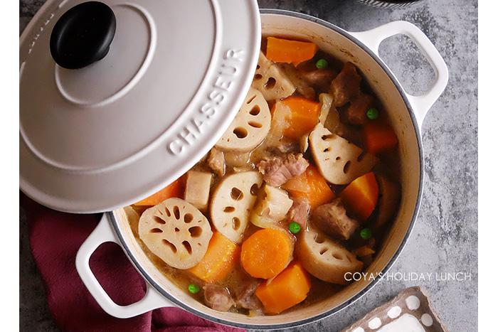 [食譜] 日式蓮藕燉肉 (馬鈴薯燉肉也適用)