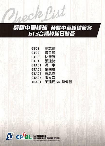 Checklist-共用-榮耀中華棒球-B