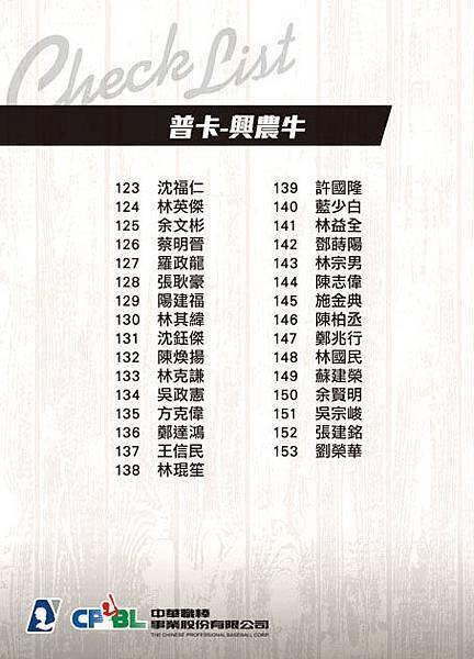Checklist-共用-興農牛-B
