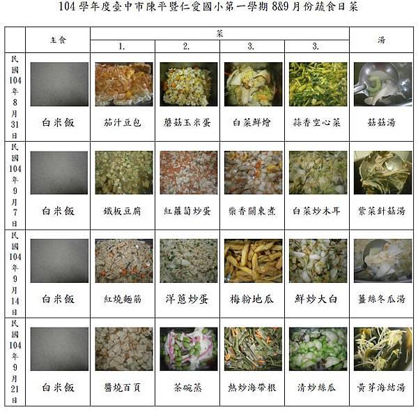 8.9月蔬食日(照片版)
