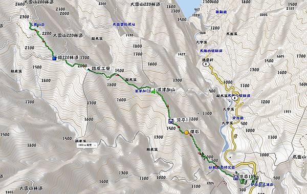 波津加山越嶺大雪山遊樂區