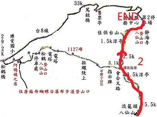 松鶴到八仙山登山步道略圖-2