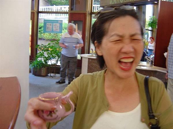 真的難喝...你看我媽臉就知道...哈