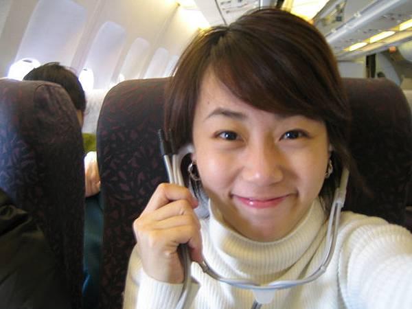 ㄚ這大陸飛機上的耳機~