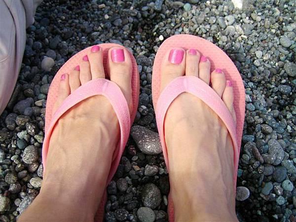 粉紅涼鞋這次到了東台灣