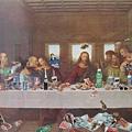 最後的晚餐...阿吃什麼垃圾食物阿耶穌
