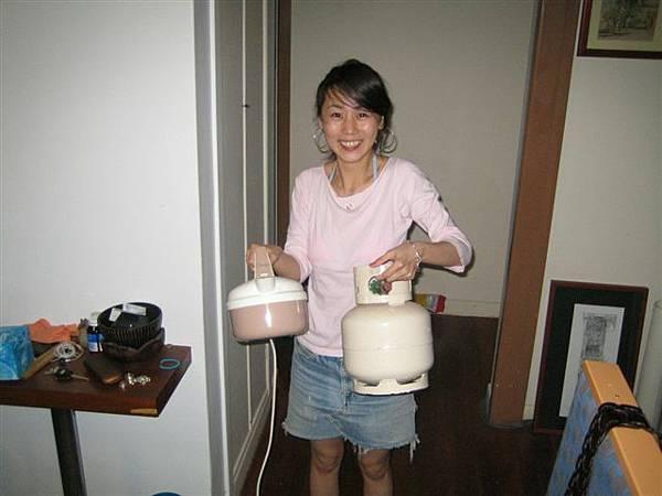 超可愛的小瓦斯爐和煮水壺勒