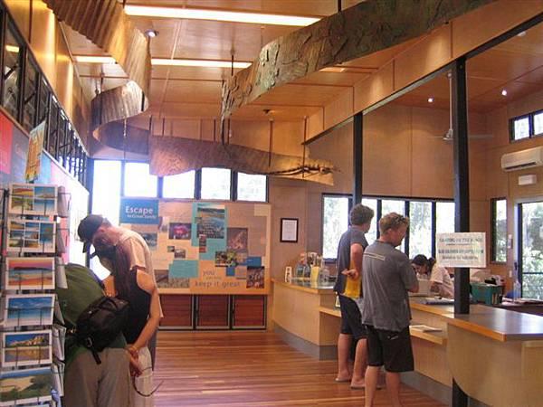 進入國家公園前要先在遊客中心登記買票
