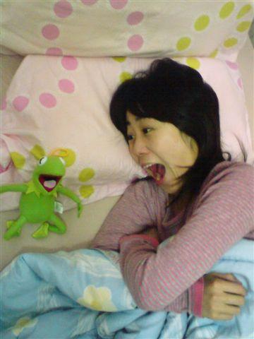 但可以跟綠青蛙合照!!!哈哈哈
