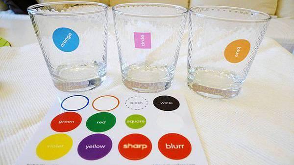 適用再各式各樣的杯子標示貼紙