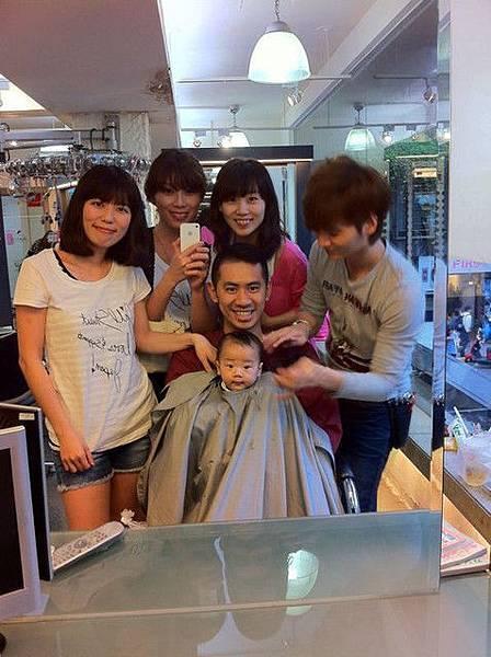 虎第一次剪頭髮