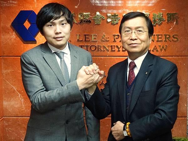 李永然律師與兒子李廷鈞