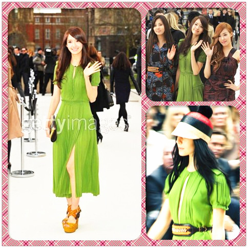 YoonA Green Dress