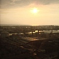摩天輪上的夕陽