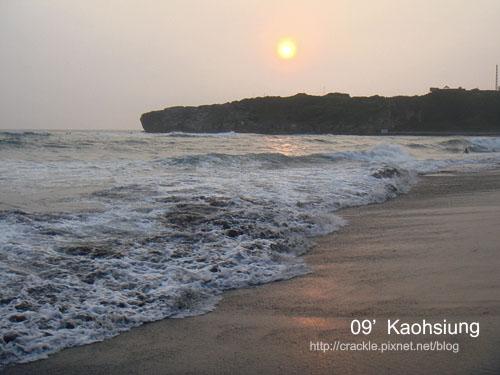 旗津的夕陽與沙灘