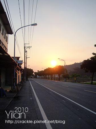 清晨六點的太陽