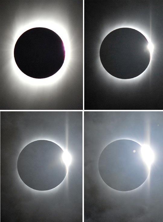 7月22日9時29分54秒、30分04秒、30分25秒、30分37秒(從左至右)