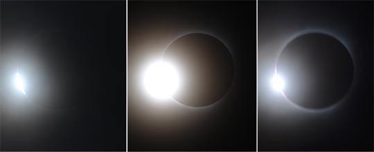 7月22日9時25分17秒、28秒、31秒(從左至右)