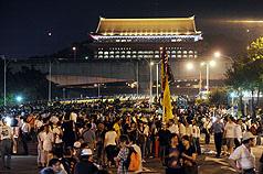 2008暴力圍城-綠眾抗議愈夜愈激烈 警方展開強勢驅離.jpg