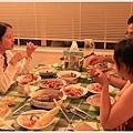 因為上菜時間拖很長所以吃得超飽的晚餐