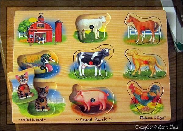 會發出聲音的農場拼圖