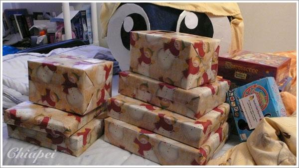 返台準備的耶誕禮物