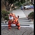 Tiger crossing! Watch out!