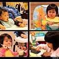 1/24 吃布丁的小孩最可愛(因為都很乖很努力吃 :p)