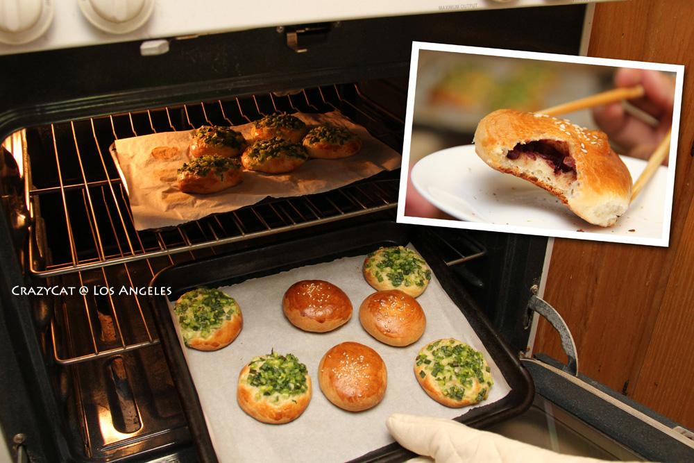2012/9/6  蔥麵包 & 紅豆麵包